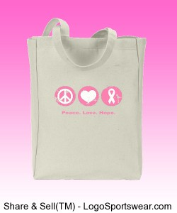 Breast Cancer Tote Design Zoom