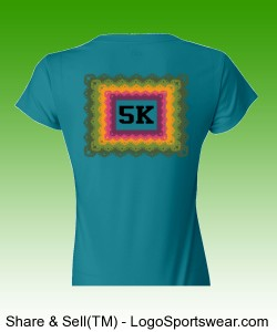 5K Square Tropic Blue Design Zoom