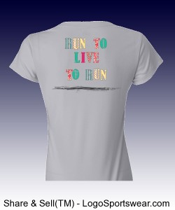 Run to live Distressed T Silver Design Zoom
