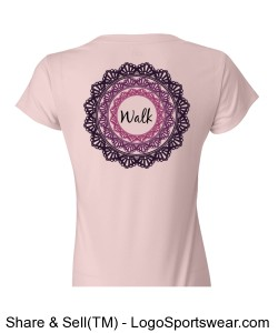 Walk Circles Light Pink Design Zoom