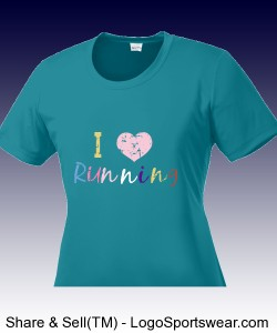 I heart Running Distressed Workout T Design Zoom